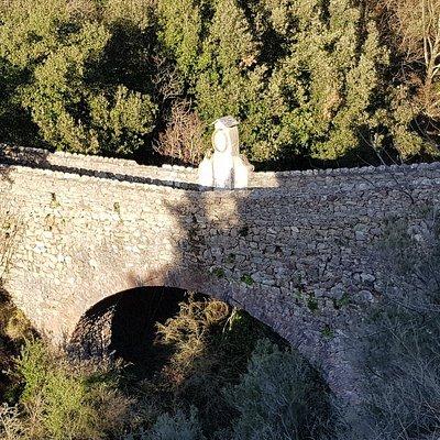 The antic bridge between Nascio and Cassagna villages