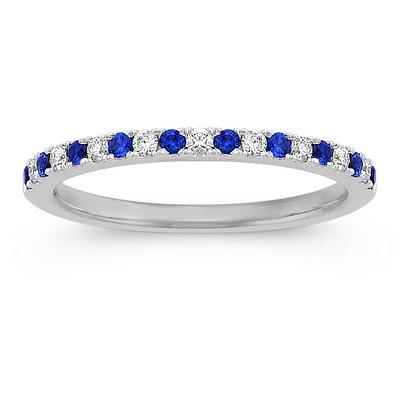 Blue Sapphire & Diamonds
