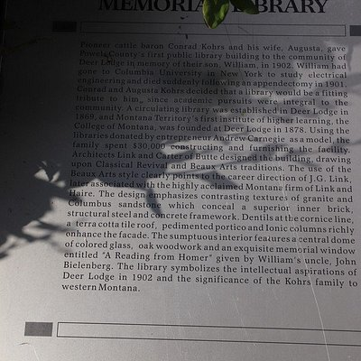 About WM K kohrs Memorial Library