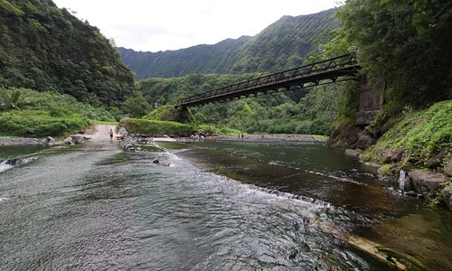 water bridge on the way to heart of Tahiti