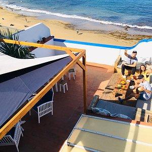 Best terrace Hostel rooftop on Canary Islands
