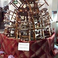 Christmas tree of chairs