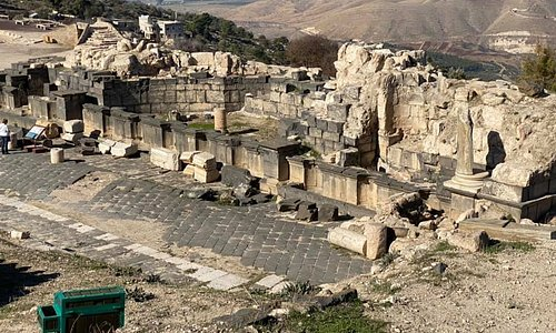 Roman site of Gadara, with view to Sea of Galilee
