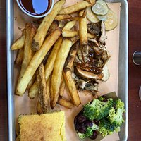 Awesome Bbq and sides, we especially loved the French fries!