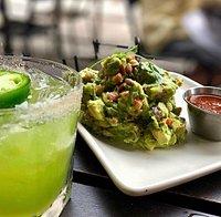 Jalapeno Margarita and Fresh Guacamole