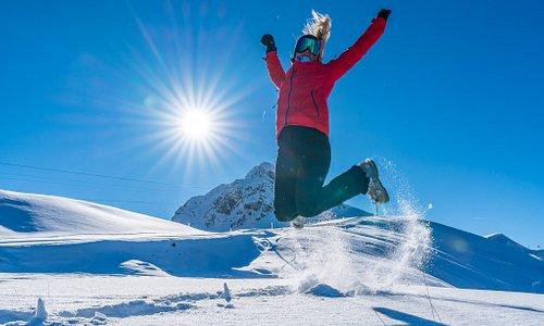 Loving the snow in Courchevel with Oxygene Ski & Snowboard School