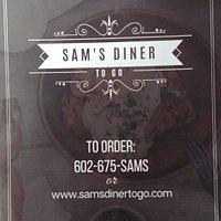 Menu cover @Sam's Diner To Go