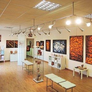 L'interno dello Studio Arte
