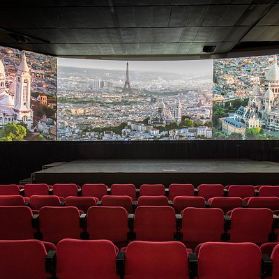 A screening room with a 150 seats capacity