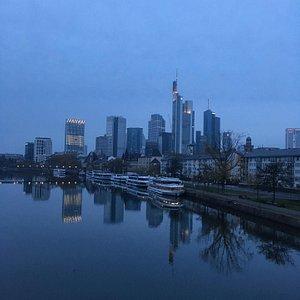 Frankfurt Skyline and the Main River