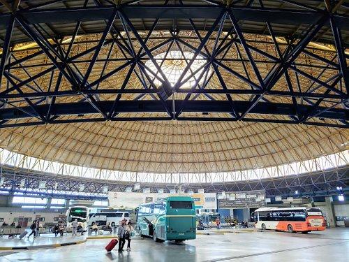 Macedonia Intercity Bus Station, Thessaloniki, Greece: Domed depot.