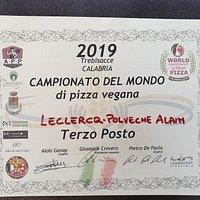 3ème au championnat du monde de pizza vegan et 5ème au championnat du monde de pizza Ethique 2019