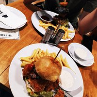 Chicken and Don Papa burgers 😊