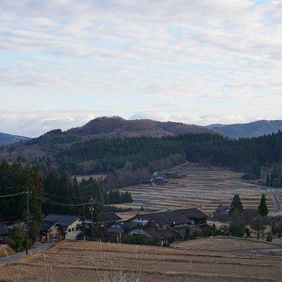 道の駅からの里山風景
