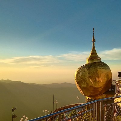 The golden rock pagoda