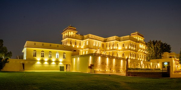 Jagjit Mahal facade and The Bar Lawn