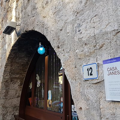 Casa Jansei, original 15th century building, originally a private home, now private homes, shops and businesses.