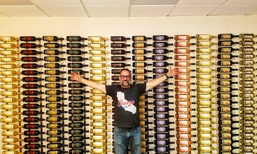 Me and my wine wall