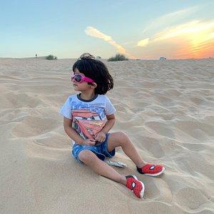 Desert safari with travel stop