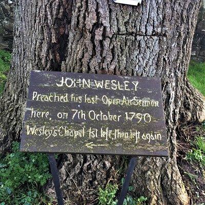 2.  John Wesley's Last Open Air Sermon Tree, Winchelsea, East Sussex