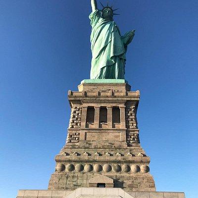 Precioso día de invierno en Liberty Island, esta foto la tomé ya en la isla