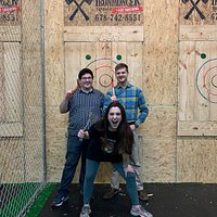 The axe throwing was a huge hit for our family! This was our first time trying axe throwing and we will definitely be back. Also, the beer selection is great! Normally, I find one or two beers I like at a brewery, but Ironmonger has tons of options for someone like me who doesn't love IPAs. So many yummy ones to choose from!