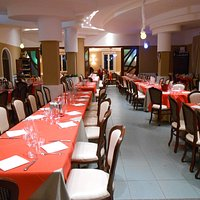 il salone allestito per cenone San Silvestro