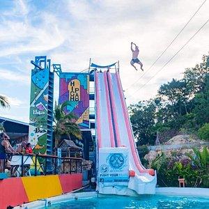 Slide on highpark slide club best koh samui pool party