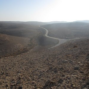 View of road from on top of ridge