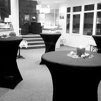 Salon d'accueil pour l'apéritif de la Saint Sylvestre