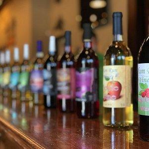 Over 20 varieties of wine