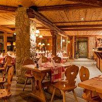 Restaurant & tables, tipically Swiss.