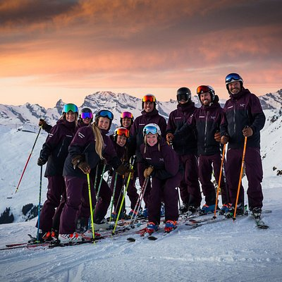 The Team at sunset