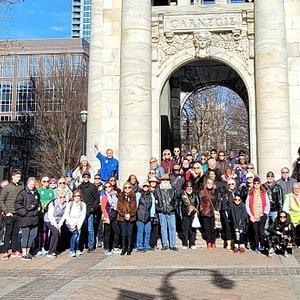 Carnegie Education Pavilion, Peachtree Street Walking Tour