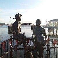 Sculpture in Mermaid Quay