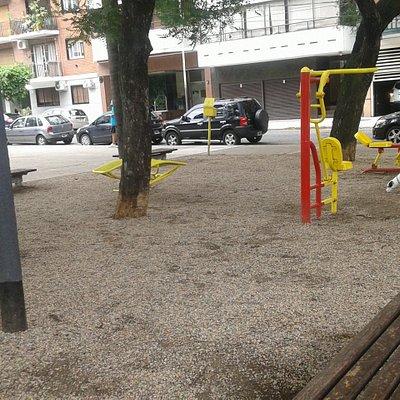 Plaza Güemes: Posta Aeròbica- Zona Villa Freud, Barrio Palermo, Bs.As. 2020.