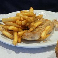 Turkey breast and pommes frites