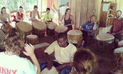 Group drumming lesson