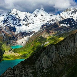 Huayhuash Trek!!! One of the amazing views From this beautiful trek actually this is the last view point during the 10 days trek. Jahuacocha lake and Solterococha Lake. the high of this view is over 4,600 meters