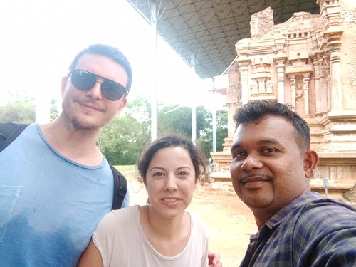 In polonnaruwa  in front of Image house