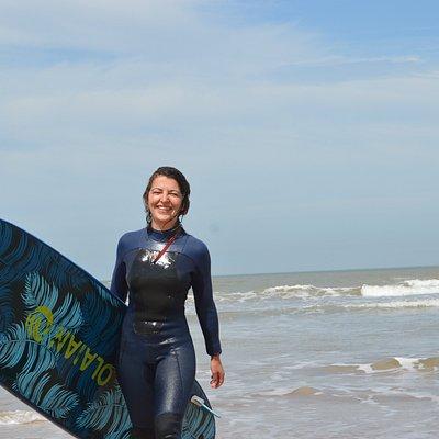 After surf smile.