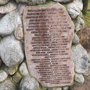 """lista poległych żołnierzy w oddziału """"Ognia"""""""