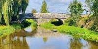 """Ponte do século XlX, com uma nítida influência românica. A """"nossa"""" Ponte de Coura."""