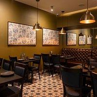 Interior of Saffron Circle UK Indian Restaurant