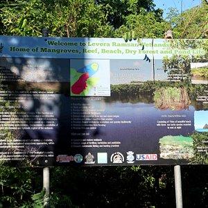 Levera Pond Entrance Sign