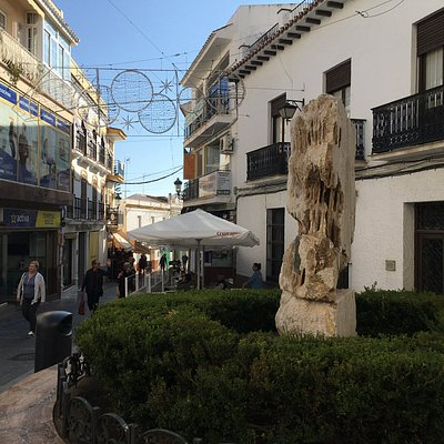 "View towards ""rock"" and beyond along Calle Pintada"