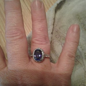 This is a 2.9 Tanzanite pendant altered to a setting as a ring for me.