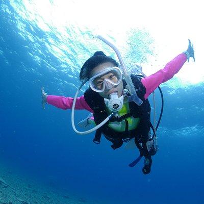 石垣島の海でダイビング!