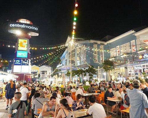 Many people are here. Marina Market by Central Marina.