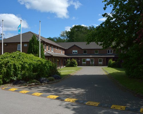 The entrance to the Anderton Centre. Our accommodation block sleeps 70.